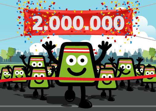 Já somos 2 milhões de utilizadores