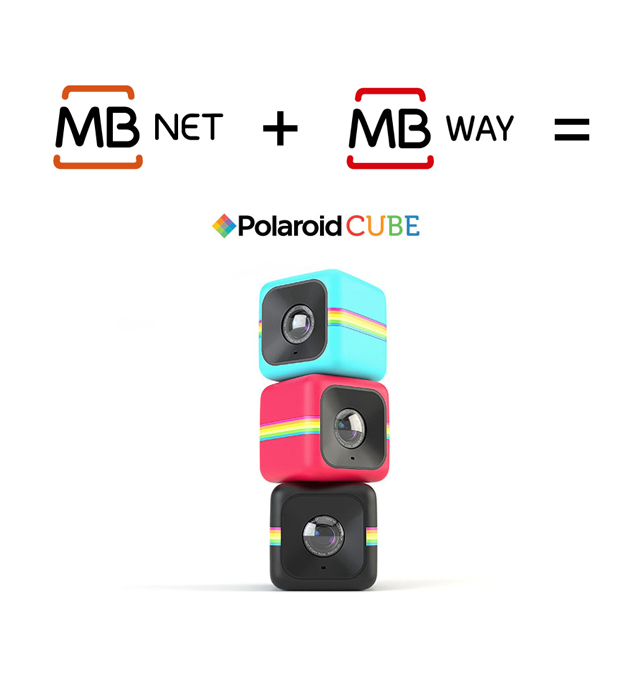 MB NET + MB WAY = Polaroid Cube