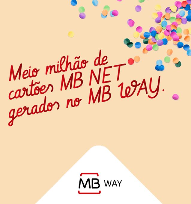 Meio milhão de cartões MB NET gerados no MB WAY