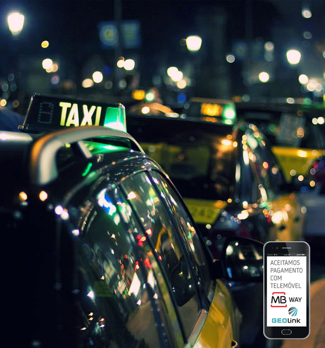 Peça um táxi na app táxi-link e pague com MB WAY