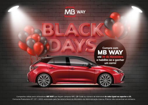 Black days MB WAY: compre com MB WAY e ganhe um carro novo