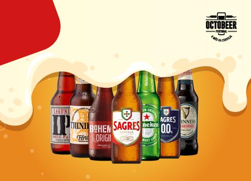 Faça um brinde: na compra de 3 cervejas vai receber a 4ª!