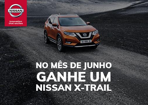 Em junho vamos oferecer um Nissan X-Trail!