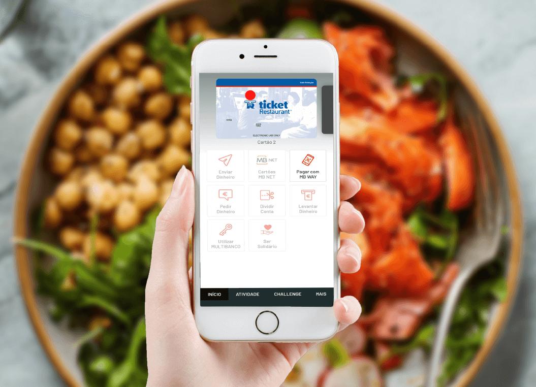Use o seu cartão de refeição Ticket Restaurant através do MB WAY!
